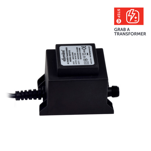 Ellumière 72w Outdoor Transformer IP65 Rated With 1.5m cable