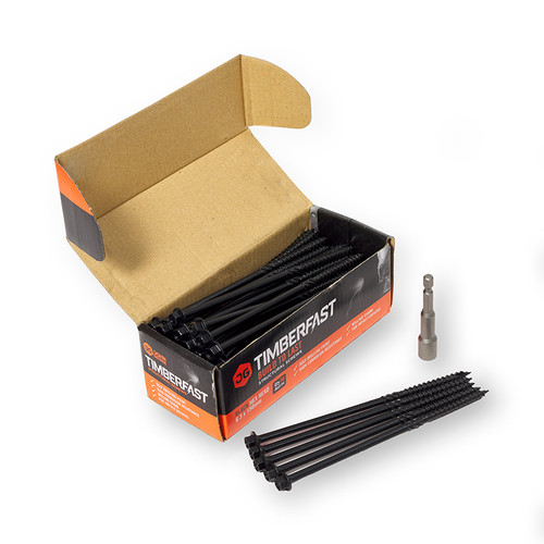 250mm Black Timber Fast Landscaping Screw (Qty 50)