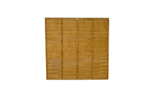 Traditional Lap Fence Panel 1.83m(W) x 1.2m(H) Dip Treated (Brown)