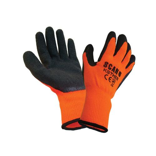 Thermal Gloves Orange/black - Large