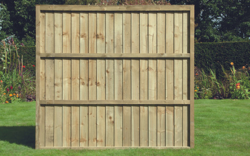 Closeboard Fence Panel 1.83m(W) x 1.65m(H) Pressure Treated (Natural)
