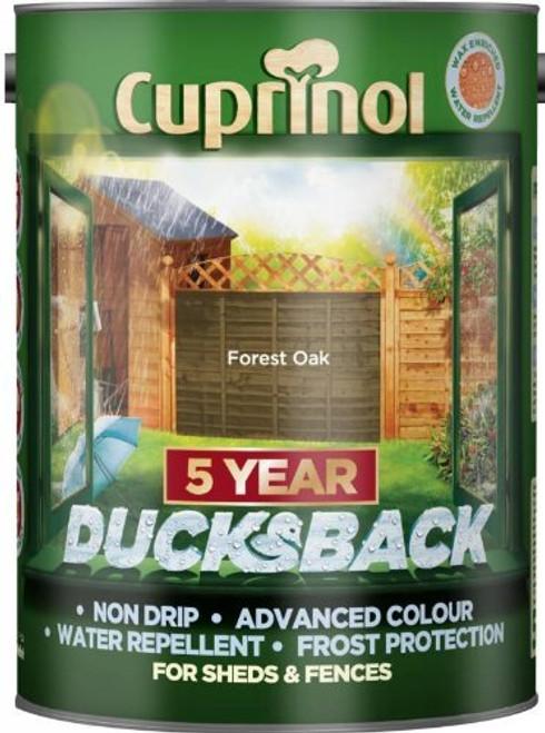 Cuprinol Ducksback 5 Ltr Forest Oak