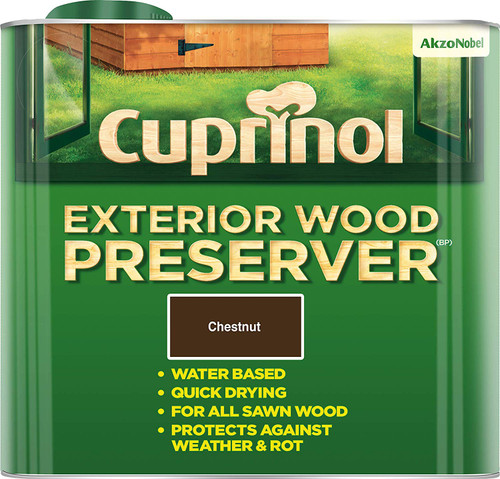 Cuprinol Exterior Wood Preserver Chestnut 5L