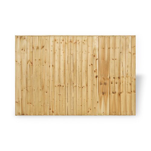 Closeboard Fence Panel 1.83m(W) x 1.2m(H) Pressure Treated (Natural)