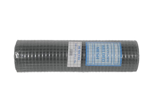 Light Welded Mesh 19G 6M Roll 900mm galvanised