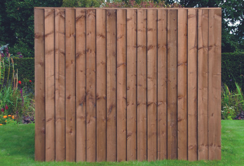 Closeboard Fence Panel 1.83m(W) x 1.5m(H) Dip Treated (Brown)