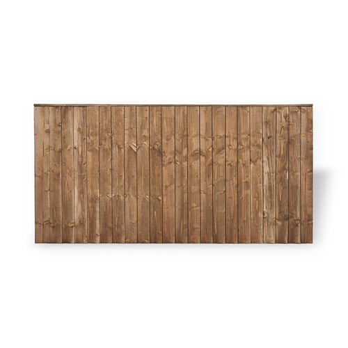 Closeboard Fence Panel 1.83m(W) x 0.9m(H) Dip Treated (Brown)
