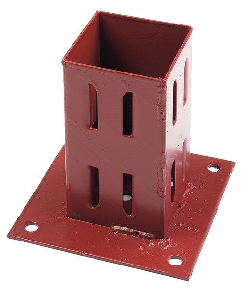 Fencemate Hold Fast Bolt Down (for 75 x 75mm posts) - Epoxy Brown finish