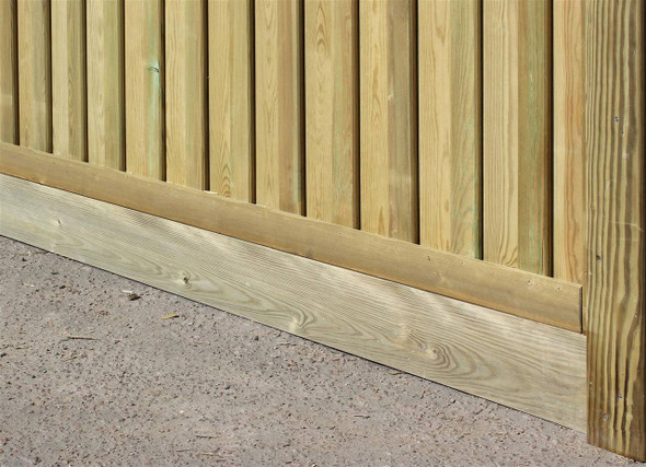 Gravel Board For Slotted Posts (1830 x 140 x 28mm)