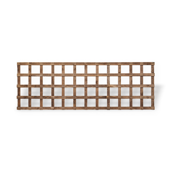 Traditional Square Trellis Panel (1830 x 610mm) - Dip Treated Brown Timber