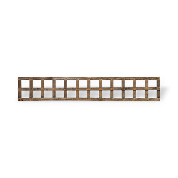 Traditional Square Trellis Panel (1830 x 320mm) - Dip Treated Brown Timber