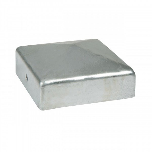 DuraPost Post Cap and Bracket (75 x 75mm) - Plain Steel Finish
