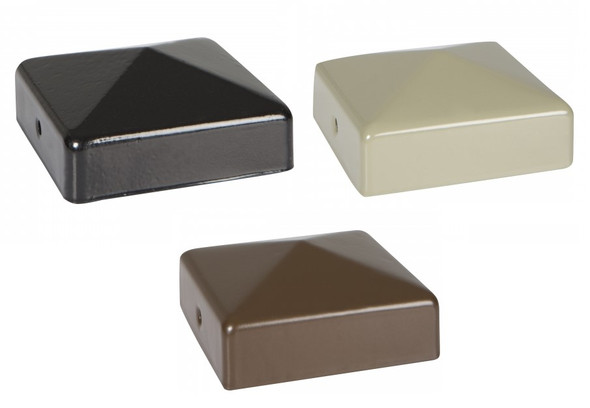 DuraPost Post Cap and Bracket (75 x 75mm) - Powder Coated Finish