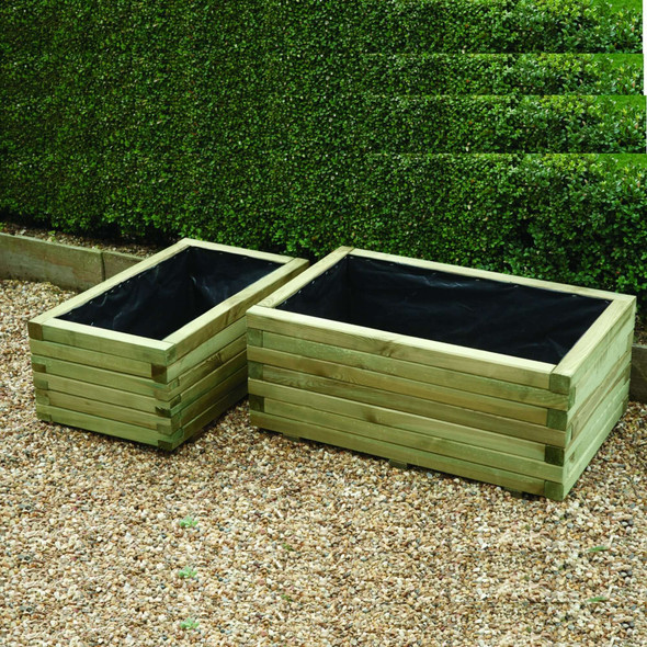 Rectangular Planters (set of 2) - Pressure Treated Green Timber