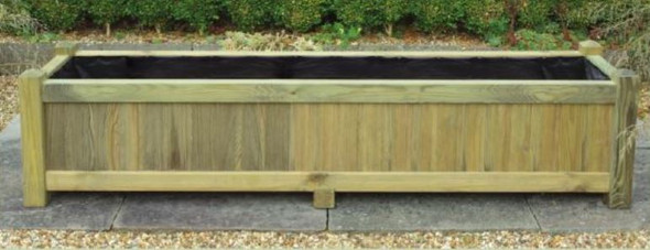 Long Rectangular Planter - Pressure Treated Green Timber