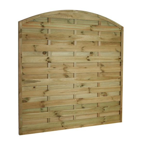 Arched Horizontal Fence Panel (1800 x 1800mm) - Pressure Treated Green Timber