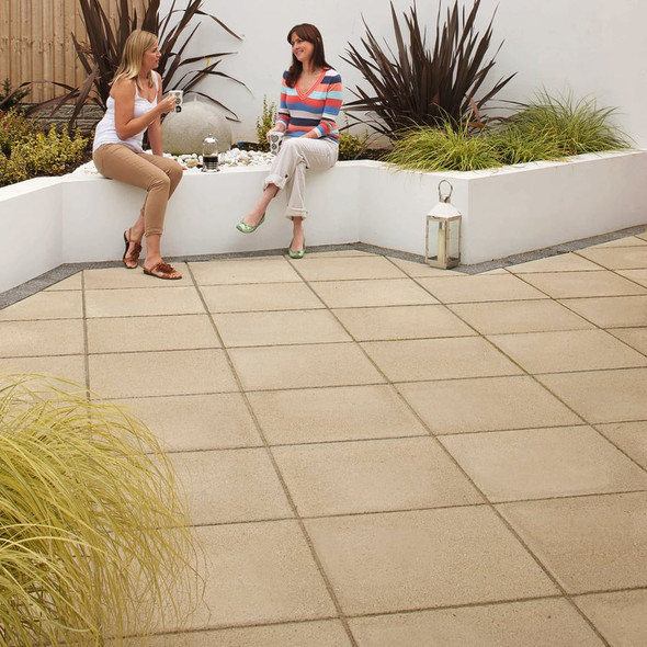 Marshalls Saxon Paving Slab - Buff