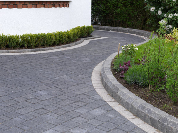 Marshalls Drivesett Argent Block Paving Project Pack - Graphite