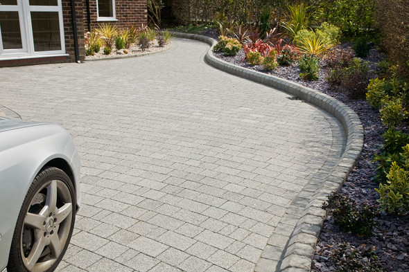 Marshalls Drivesett Argent Block Paving Project Pack - Light