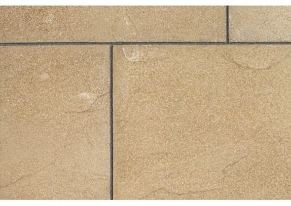 Marshalls Regent Textured Riven Paving Slab (600 x 600 x 38mm) - Buff