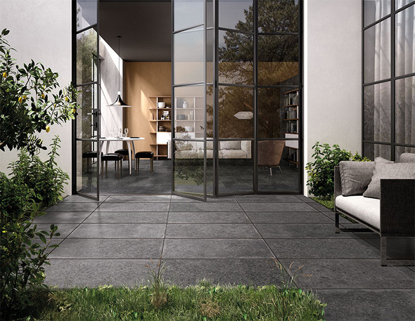 Global Stone Siena Porcelain Paving Tile (500 x 1000 x 20mm) - Dark Stone
