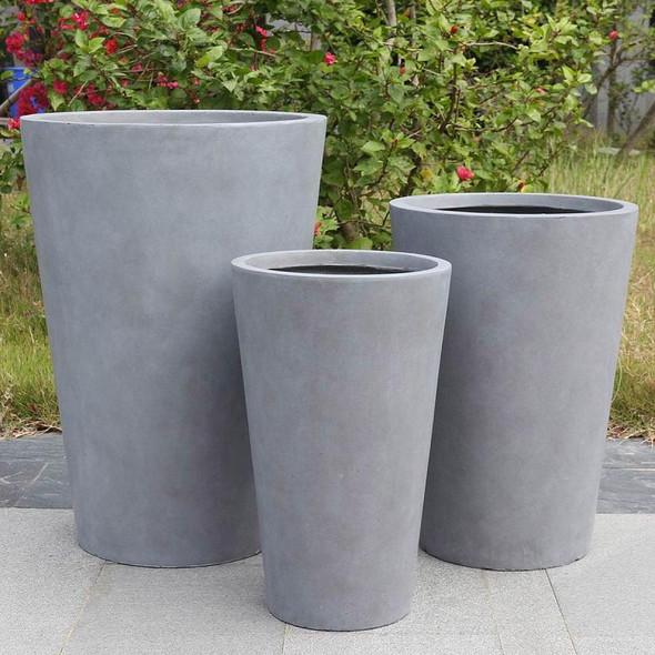 Smooth Fibrestone Vase Planter