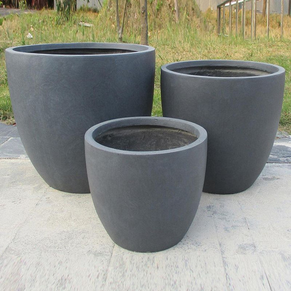Smooth Polished Fibrestone Egg Planter