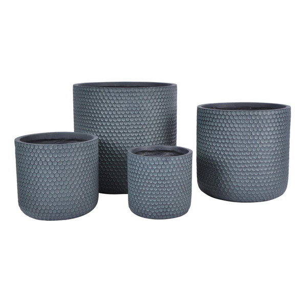 Honeycomb Style Cylinder Round Outdoor Planter