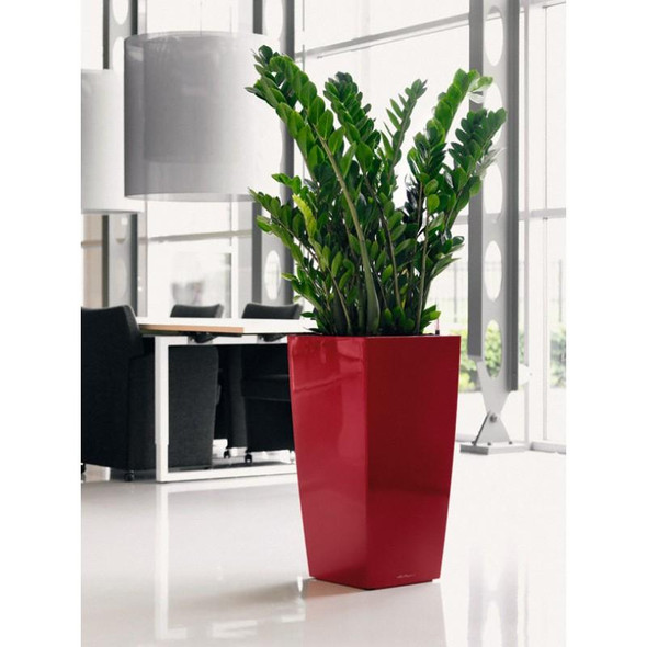 Self-Watering Metallic/Glossy Polyresin Column Planter H41cm