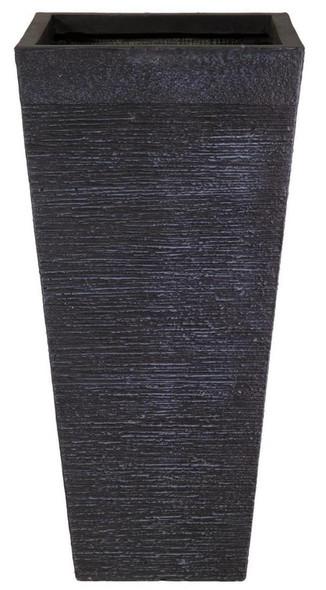 Ribbed Fibrestone Tall Tapered Planter