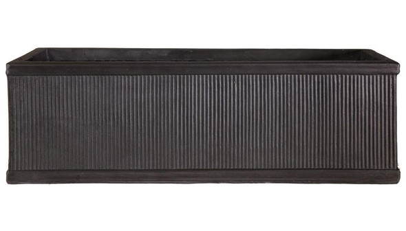 Vertical Ribbed Vintage Style Faux Lead Window Box Planter