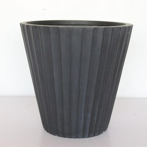 Vintage Ribbed Round Vase Outdoor Planter