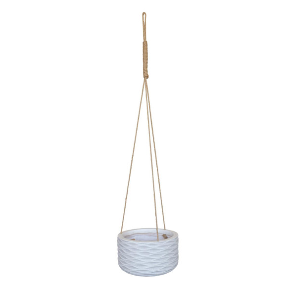 Wave Style Hanging Cylinder Round Outdoor Planter