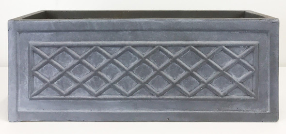 Fibrestone Grey Lattice Window Box PlanterFibrestone Grey Lattice Window Box Planter