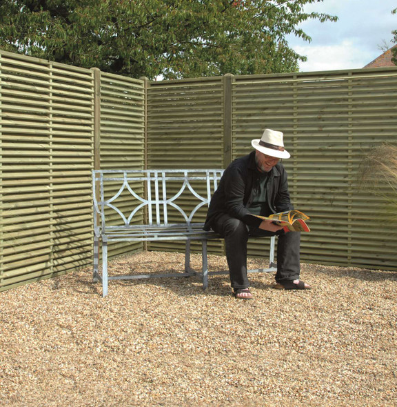 Venetian Fence Panel (1800 x 900mm) - Pressure Treated Green Timber
