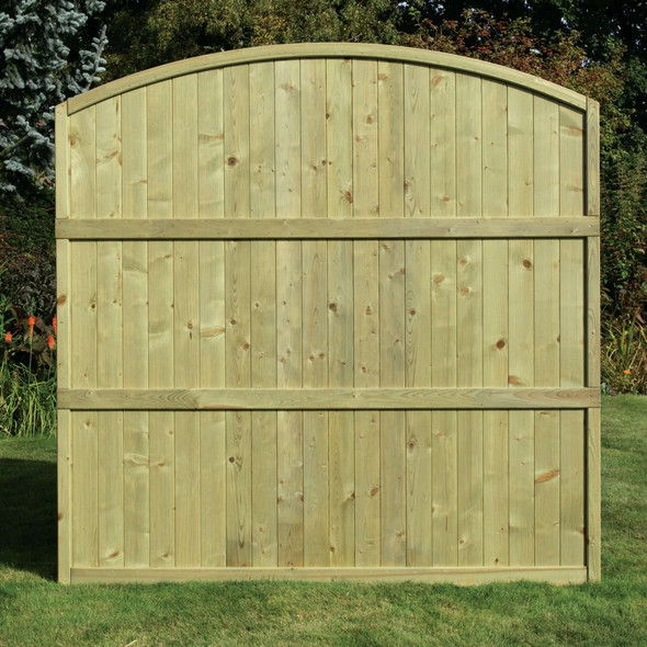 Tongue & Groove Arched Top Fence Panel (1800 x 1800mm) - Pressure Treated Green Timber