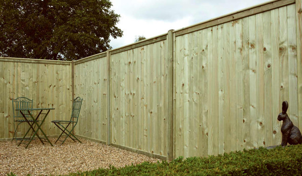 Tongue & Groove Flat Top Fence Panel (1800 x 1800mm) - Pressure Treated Green Timber