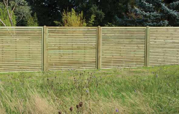 Slatted Fence Panel (1800 x 1500mm) - Pressure Treated Green Timber