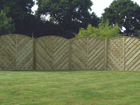 V Arched Fence Panel (1800 x 1800mm) - Pressure Treated Green Timber