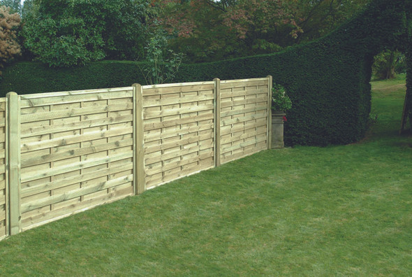 Square Horizontal Fence Panel (1800 x 1500mm) - Pressure Treated Green Timber