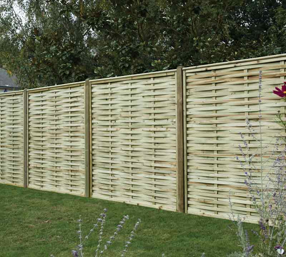 Premium Woven Fence Panel (1800 x 1800mm) - Pressure Treated Green Timber