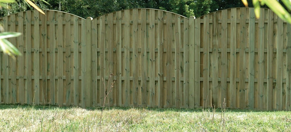 Double Sided Paling Fence Panel (1830 x 1800mm) - Pressure Treated Green Timber