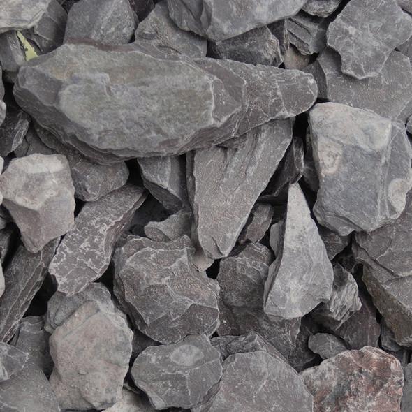 Long Rake Spar 40mm Plum Welsh Slate Bulk Bag - Dry