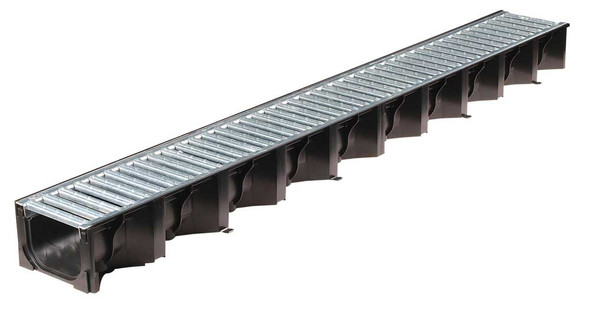 ACO HexDrain Channel with Galvanised Steel Grating (1000mm)