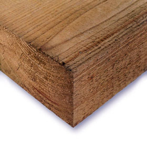 10 x Brown Softwood Railway Sleepers (2400 x 200 x 100mm) - Pressure Treated Timber