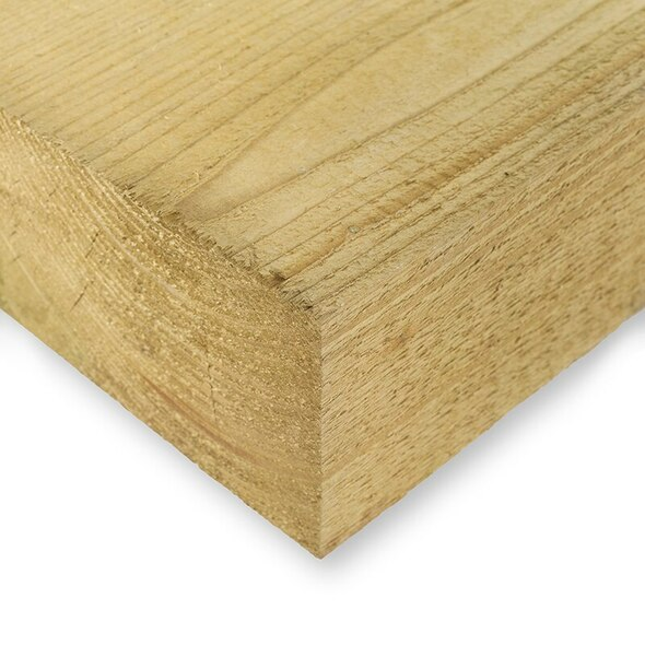50 x Softwood Railway Sleepers (2400 x 200 x 100mm) - Pressure Treated Natural Timber
