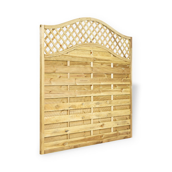 Omega Lattice Top Fence Panel (1800 x 1800m) - Pressure Treated Green Timber