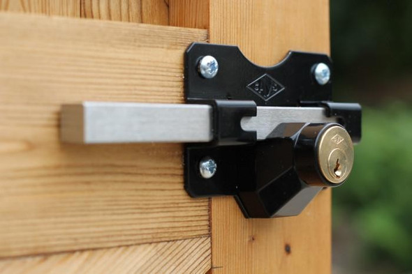Premium Rim Lock Single Locking Bolt 70mm Key Lockable From Outside