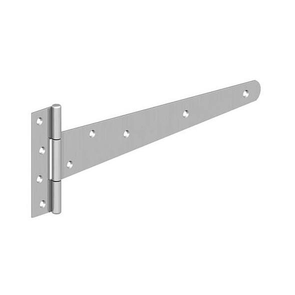 "Pair of 18"" BZP Medium 'T' Hinges (Pre-Packed With Screws)"