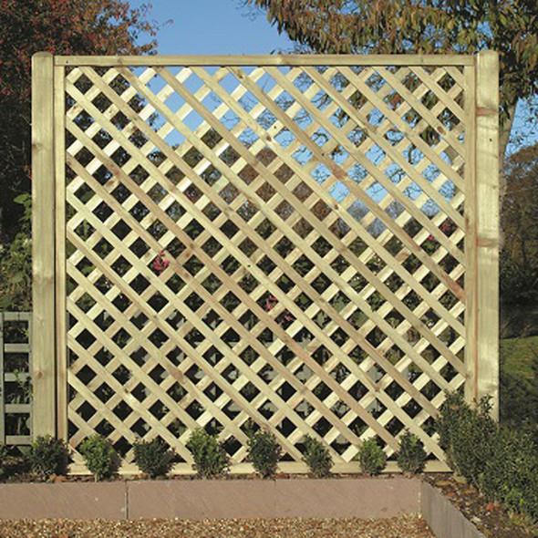 Heavy Diamond Lattice Panel (1800 x 1800mm) - Pressure Treated Green Timber